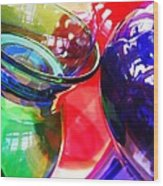 Glass Abstract 618 Wood Print