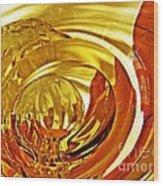 Glass Abstract 642 Wood Print