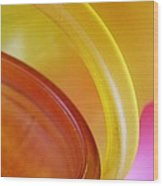 Glass Abstract 723 Wood Print