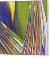 Glass Abstract 743 Wood Print