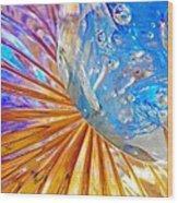 Glass Abstract 767 Wood Print