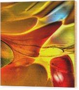 Glass And Light Wood Print