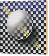 Glass Ball  Wood Print
