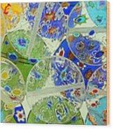 Glass Beads Abstract Wood Print