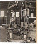 Glass-blowing Machine, 1908 Wood Print