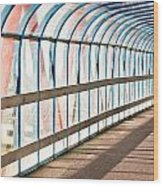 Glass Covered Walkway Wood Print