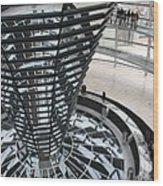 Glass Cupola - Berlin Wood Print