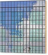 Glass Facade Houston Tx Wood Print by Christine Till