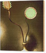 Glass Flowers  Wood Print