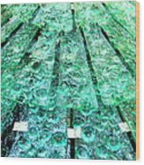 Glass Fountain Wood Print
