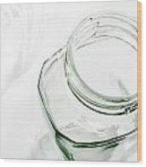 Glass Jars - High Key Wood Print