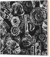 Glass Knobs - Bw Wood Print