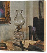 Glass Lamp And Stereopticon Wood Print