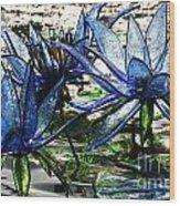 Glass Lilies Wood Print