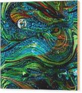 Glass Macro Abstract 13e7 Wood Print