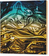 Glass Macro Abstract Rbwce Wood Print by David Patterson