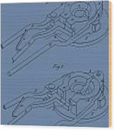 Glass Mold Patent On Blue Wood Print