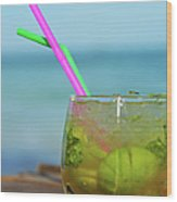 Glass Of Mojito Cocktail By Tropical Wood Print