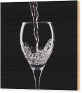 Glass Of Water Wood Print by Tom Mc Nemar