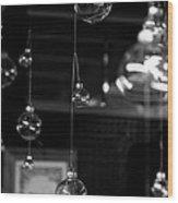 Glass Ornaments Wood Print
