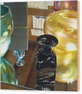 Glass Reflections Wood Print