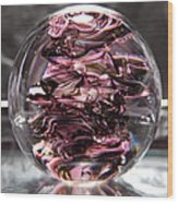 Glass Sculpture Black And Pink Rbp Wood Print