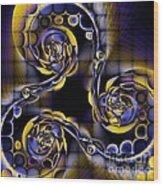 Glass Spirals Wood Print