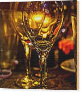 Glasses Aglow Wood Print