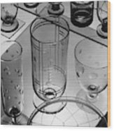 Glasses And Crystal Vases By Walter D Teague Wood Print