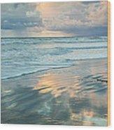 Glassy Beach Wood Print