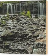 Glassy Rocks At Mohawk Wood Print