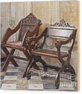 Glastonbury Chairs Wood Print