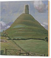 Glastonbury Tor Wood Print