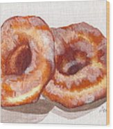 Glazed Donuts Wood Print by Debi Starr