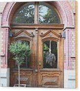 Glazed Door Wood Print
