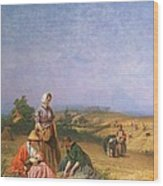 Gleaning Wood Print