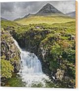 Glen Brittle Waterfall Wood Print