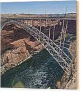 Glen Canyon Dam Bridge Wood Print