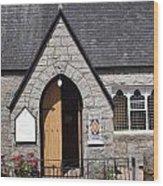 Glen Coe Church Wood Print