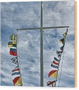 Glen Cove American Flag Wood Print