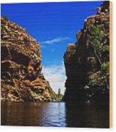 Glen Helen Gorge-outback Central Australia V2 Wood Print
