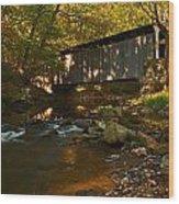 Glen Hope Covered Bridge Wood Print