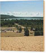 Glen Lake From The Dune Climb Wood Print