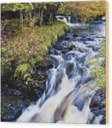 Glenbrittle Waterfall Wood Print