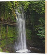 Glencar Waterfall Is Situated Wood Print