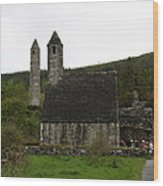 Glendalough Cloister Ruin - Ireland Wood Print
