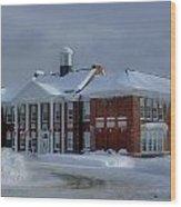 Glenfield Elementary School Wood Print