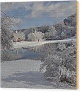 Glenmorgan After A Snow Wood Print