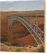 Glenn Dam Bridge Wood Print