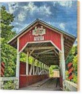 Glessner Covered Bridge Wood Print